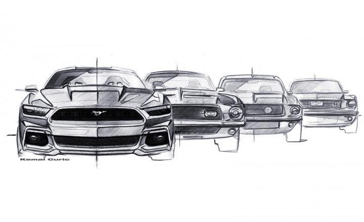 Ford Mustang Schetsen