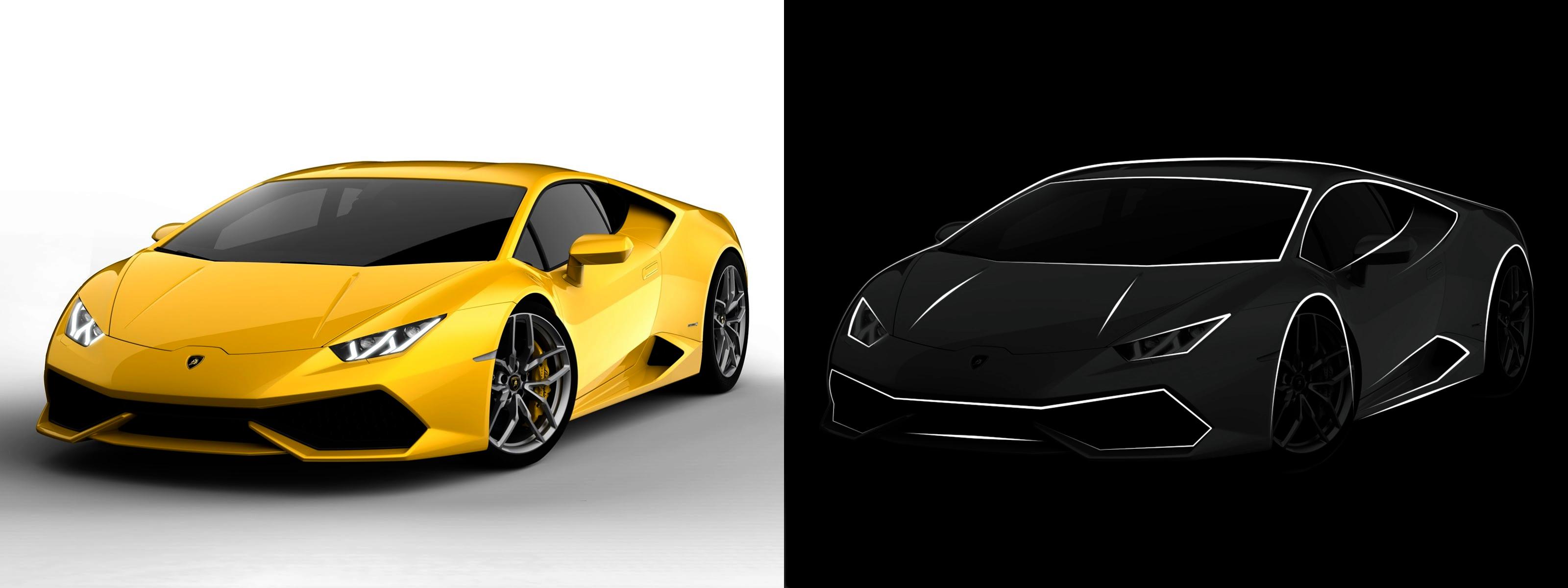 Lamborghini Huracan Desgin Sketch